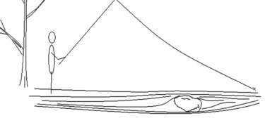 Tenkara Line Drawing