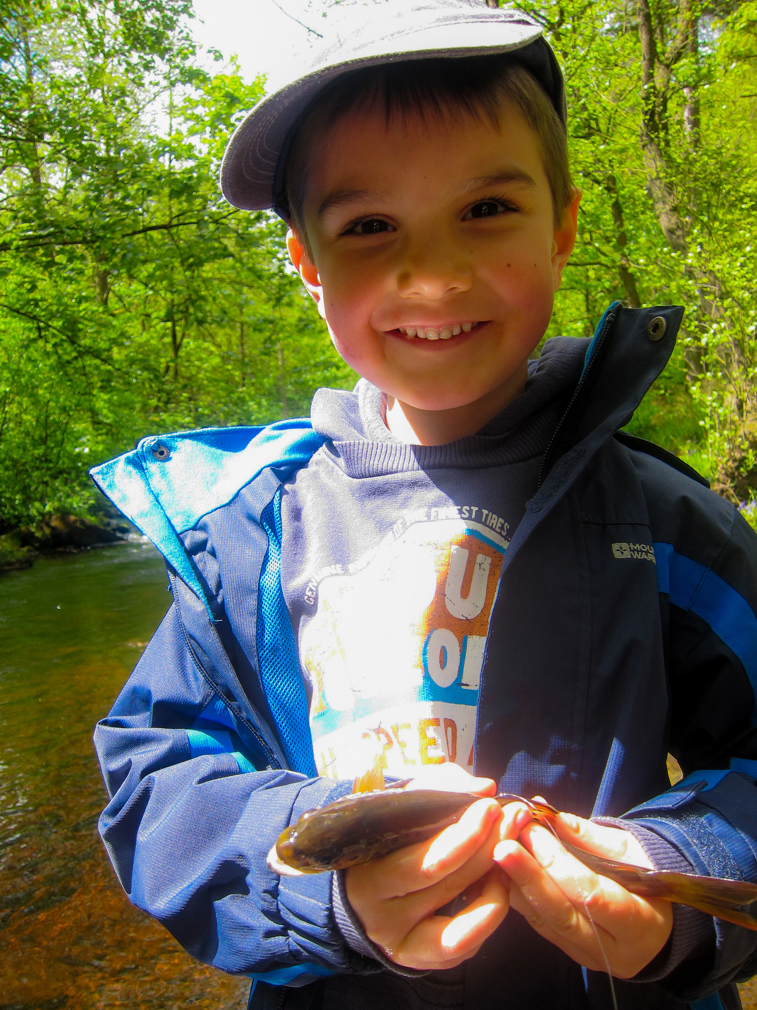 Zachary age 5 with his first trout