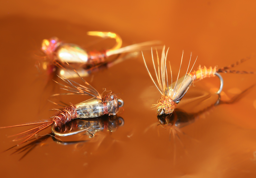 Tungsten teardrop nymphs by Barrie Duffie